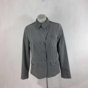 Talbots Blazer Jacket Gray Velvet 3 Pocket